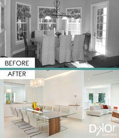 Dining Room Design by DKOR Interiors - Detailed Minimalism #Remodel #InteriorDesign #MiamiInteriorDesign