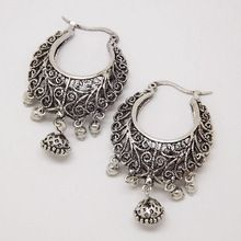 Retro Antique Tibet Silver Vine Hollow Filigree Vintage Earrings For Women Girls Wholesale 2015 NEW Arrival Jewelry(China (Mainland))