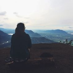 Elk Mountain in Chilliwack, British Columbia looking down onto the Fraser Valley. Picture taken around 4pm