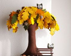Baobab Felt Tree  Soft sculpture Home decor Kids Room Decor Sweet Dreams by Intres