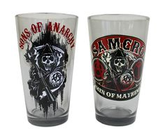 Sons of Anarchy - Men of Mayhem Pint Glasses (Set of - BikerOrNot Store Gag Gifts, Funny Gifts, Motorcycle Humor, Sons Of Anarchy Samcro, Shot Glasses, Pint Glass, Drinking, Men, Charlie Hunnam