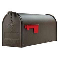 NEW Mailbox Post Mount Medium Capacity Galvanized Steel Bronze Home Made in USA #Mailbox