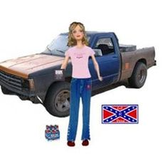 "SO FUNNY    ""Stockbridge Barbie""     This pale model comes dressed in her own Wrangler jeans two sizes too small, a NASCAR t-shirt and tweety bird tattoo on her shoulder. She has a six-pack of Bud light and a Hank Williams Jr. CD set. She can spit over 5 feet and kick mullet-haired Ken's butt when she ' s drunk. Purchase her pickup truck separately and get a confederate flag bumper sticker absolutely free."