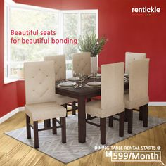 #NewLaunch  Create new memories and relive old ones with family and friends over a delicious meal in the comfort of your own home.   Book Now   Thinking of Renting. Think of Rentickle! . . #diningtable #rentfurniture #homedecor #homeinteriors #diningroomideas #diningtabledecor #diningroom #interiordecorating #diningtables #diningtablesdesign #foodbond #creatememories #furnitureonrent #rentickle Dining Bench, Dining Room, Renting, Hyderabad, Own Home, Interior Decorating, Meal, Memories, Create