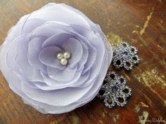 Lavender/Iris Wedding Hair Flower With Hair by AnnaDelphiaBridal, $40.00