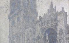La Cathédrale de Rouen. Le Portail et la tour d'Albane. Temps gris