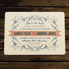 45 different wedding invitations that reflect the style of your event.