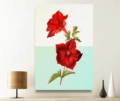 Excited to share the latest addition to my #etsy shop: Mid-century modern art, red petunias, mid-century modern wall art, printable art, petunia flower, kitchen wall decor, gifts for mom http://etsy.me/2CnY3WJ #art #print #mid-centurymodernart #birthdaygift #redpetunia