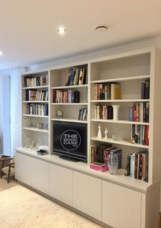 Living Room Wall Storage Elegant Modern Media Unit for Client In Richmond In 2019 Bookcase, Living Room Shelves, Home, Wall Cabinets Living Room, Shelving Units Living Room, Wall Storage Cabinets, Wall Unit, Media Furniture, Living Room Wall Units