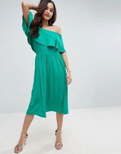 shiny green nursing friendly dresses