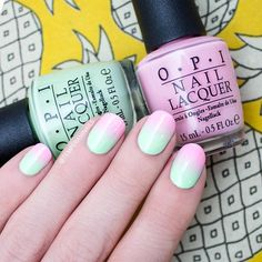 OPI - That's Hularious & Suzi Shops And Island Hops. Practice makes perfect and I really need to practice more on ombre/gradients! This mani is far from perfect, but I love these colors together