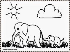 mewarnai gambar gajah afrika