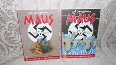 MAUS I & II SET ART SPIEGELMAN BOOKS LIKE NEW! GRAPHIC NOVELS HOLOCAUST 86-91