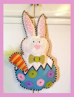 Cute Easter Bunny Burlap Decor