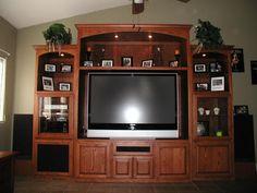 Entertainment center Home Entertainment Centers, Entertainment Furniture, Media Center, Home Goods, Sweet Home, Entertaining, Living Room, Den, Basement