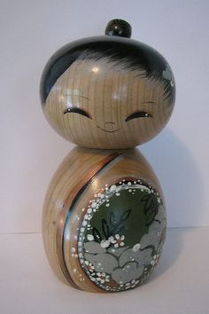 Kokeshi+doll+little+girl+by+NaomiGallery+on+Etsy,+$140.00
