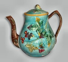 Majolica coffee pot. There is a tea pot in the same pattern.