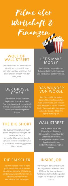 Lust auf einen Filmabend aber keine Idee, was du dir anschauen könntest? Wir haben ein paar Filmtipps zum Thema Geld für dich.  #filmtipps #aproposgeld Wolf Of Wall Street, Blog, Films, Investing Money, Economics, Finance, Couple, Tips
