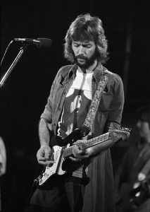 Eric Clapton's Blackie – While Clapton first considered playing the Stratocaster partly because of Hendrix's influence, he unquestionably made it his own. Compiled from parts of a few other Strats, Blackie was played by Clapton for well over a decade, during the height of his career. #guitar #music #history
