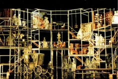 Manon - Massenet  -English National Opera - model 1:25 . Deirctor: David MacVicar. Desiner: Roni Toren. (1997 not-executed) Set Design, Over The Years, Cities, Costume, Street, Car, Fancy Dress, Automobile, Stage Equipment