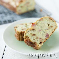 Hartige cake met courgette, spek en gorgonzola | Cuisine van Sabine