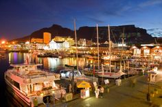 Picture titled V&A Waterfront at Night from our Cape Town, South Africa photo gallery. Check out this and 19 other pictures of Cape Town. South Africa Tours, Cape Town South Africa, Oh The Places You'll Go, Cool Places To Visit, Places To Travel, Cape Town Tourism, Clifton Beach, V&a Waterfront, England