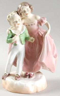 Sister-Pink Dress  Royal Worcester Figurine at Replacements, Ltd