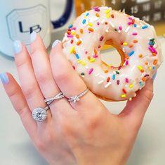 D I A M O N D S &  D O N U T S 💎🍩✨ - 💍 style VNR-19346 - #laurenbjewelry #nationaldonutday #rounddiamond #moissanitering #ringstack National Donut Day, Moissanite Rings, Stacking Rings, Round Diamonds, Doughnut, Jewlery, Instagram Posts, Desserts, Food