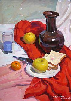 Painting Still Life, Still Life Art, Gouache Painting, Painting & Drawing, Painting Inspiration, Art Inspo, Academic Drawing, Guache, Pretty Art