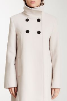 Double Breasted Stand-Up Collar Coat