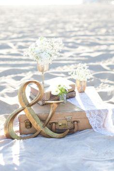 Santa Monica Engagement Shoot. Engagement Photo Ideas. Wedding. Beach picnic. The Dainty Lion. Love Janet Photography.