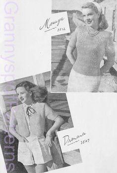 1940s knitting patterns.