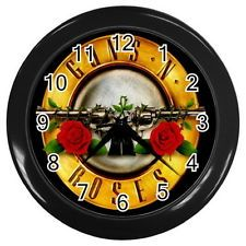 "Guns N Roses Round Large Wall Clock (Black) 10"" in diameter Gifts HOT NEW"
