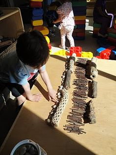 reggio kids preschool....sticks, I need to gather sticks!!