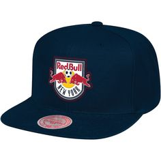 7aed87edf0a New York Red Bulls Mitchell   Ness Zigzag Adjustable Snapback Hat - Blue. MLS  Caps   Hats