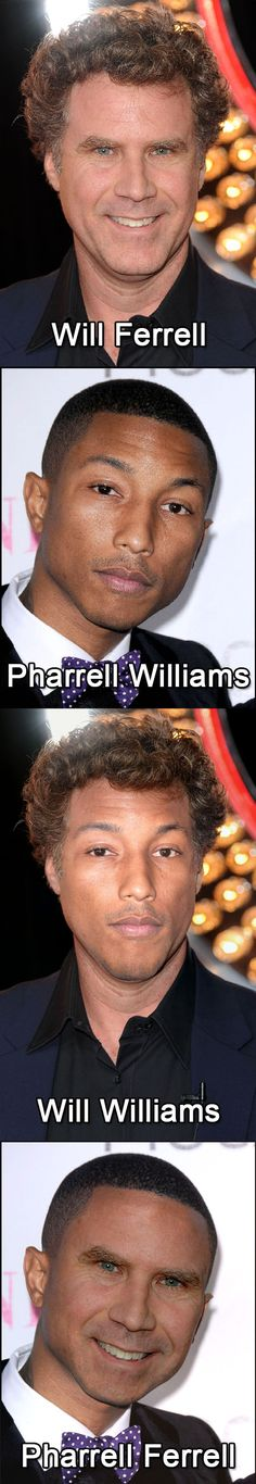 You Can't Unsee These Will Ferrell & Pharrell Williams Face Swaps