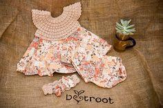 Crochet Baby Dress Set  Vintage Floral by Beetrootshop on Etsy