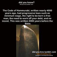 http://en.wikipedia.org/wiki/Code_of_Hammurabi