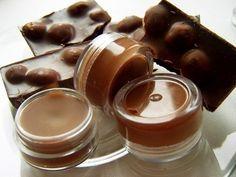 Chocolate Lip Balm by ShopGreenJoy on Etsy Organic Chocolate, Raw Chocolate, Handmade Cosmetics, Natural Lip Balm, Cocoa Butter, Shower Gel, The Balm, Panna Cotta, Shampoo