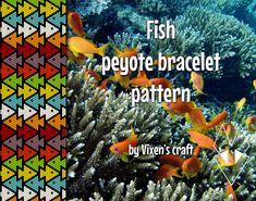 Fish peyote bracelet pattern