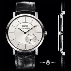 THIN IS IN: And they don't come much more slender than the Piaget Altiplano. Head on over to timeandtidewatches.com to put just how slim this watch into perspective - with a list of 5 things just as skinny as this stunning Piaget. #watches #piaget #a