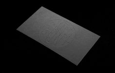 Logo and business card with a black board and blind embossed detail designed by Anagrama for Latin American horror film production company N...