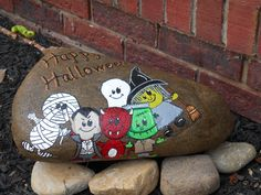 This is a cute Halloween rock, I found the clip art on the internet and had to paint it!