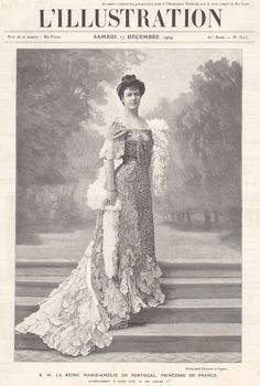 Marie Amelie was the last queen consort of Portugal as the wife of Carlos, the Prince Royal of Portugal.   Amelie was born in London in 1865, the daughter of Prince Philippe, the Count of Paris, and his wife and close cousin, the Infanta Marie Isabel of Spain, who was also a Princess of Orleans.