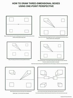 one=point perspective worksheets | ... Tube video above to draw this picture of one point perspective boxes: