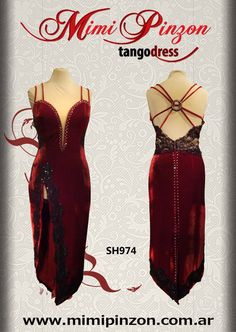 Argentinian Tango Show Dress by MimiPinzon on Etsy