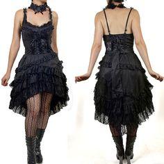 Black gothic lace dress
