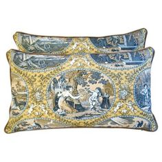 Check out this item at One Kings Lane! Scalamandré Cupido Toile Pillows, Pair