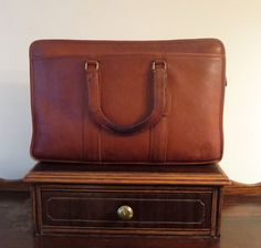 Coach Embassy Briefcase In British Tan Leather Made In The Factory In NYC Style No 5090 by ProVintageGear on Etsy