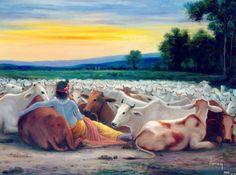 Krishna n cows Lord Krishna Images, Krishna Photos, Krishna Pictures, Hare Krishna, Radha Krishna Love, Krishna Lila, Radha Rani, Photos Hd, Radha Krishna Wallpaper